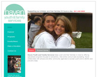 Haven Youth and Family Services website image