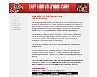 Lady Reds Volleyball Camp