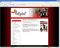 TNT Volleyball website image